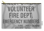 Valley Stream Fire Department In Black And White Carry-all Pouch