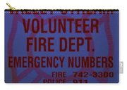 Valley Stream Fire Department In Blue Carry-all Pouch by Rob Hans