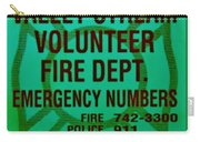 Valley Stream Fire Department In Irish Green Carry-all Pouch