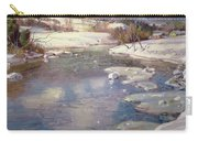 Valley Stream In Winter Carry-all Pouch