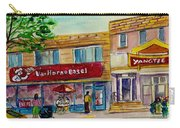 Van Horne Bagel And Yangtze Restaurant Sketch Carry-all Pouch