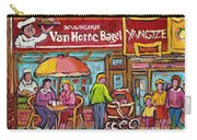 Van Horne Bagel Next To Yangste Restaurant Montreal Streetscene Carry-all Pouch