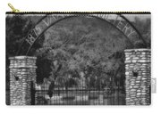 Vance Cemetery Black And White Carry-all Pouch