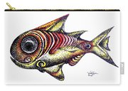 Variegated Red Fish In Stipple Carry-all Pouch