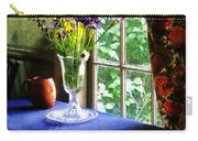Vase Of Flowers And Mug By Window Carry-all Pouch