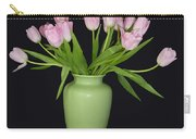 Vase Of Pink Tulips Carry-all Pouch