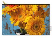 Vase With Gerbera Daisies  Carry-all Pouch