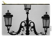 Venitian Lamp Posts Bw Carry-all Pouch