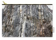 Vertical Sedimentary Strata Carry-all Pouch
