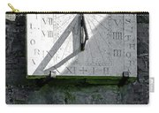 Vertical Sundial On Fenny Bentley Church Carry-all Pouch