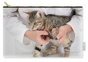 Vet Clipping Kittens Claws Carry-all Pouch