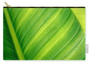 Vibrant Green Leaf Carry-all Pouch