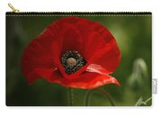 Vibrant Red Oriental Poppy Wildflower Carry-all Pouch