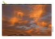 Vibrant Sunset Over The Rim Of Canyon Carry-all Pouch