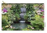 Victorian Garden Waterfall - Digital Art Carry-all Pouch
