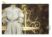Victorian Lady On Garden Bench Carry-all Pouch