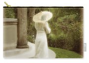 Victorian Woman In Garden With Parasol Carry-all Pouch