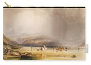 View From Snowdon From Sands Of Traeth Mawe Carry-all Pouch
