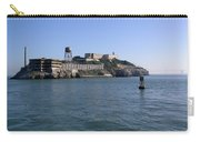 View Of Alcatraz From A Boat That Is Leaving The Island Carry-all Pouch