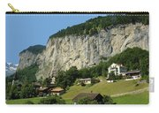 View Of Greenery And Waterfalls On A Swiss Cliff Carry-all Pouch