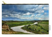 View Of River With Storm Clouds Carry-all Pouch