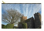 View Of St Mary Church And Clouds In Dover Castle Carry-all Pouch