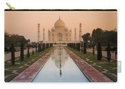 View Of Taj Mahal Reflecting In Pond Carry-all Pouch