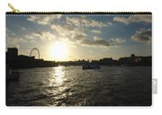 View Of The Thames At Sunset With London Eye In The Background Carry-all Pouch