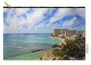 View Of Waikiki And Beach Carry-all Pouch