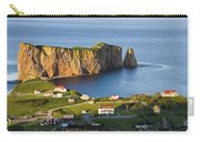 Village And Perce Rock At Sunset Carry-all Pouch