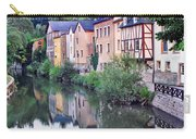 Village Reflections In Luxembourg I Carry-all Pouch by Greg Matchick