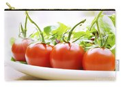 Vine Tomatoes On A Salad Plate Carry-all Pouch