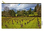 Vineyards And Mt St. Helena Carry-all Pouch by Garry Gay