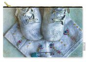 Vintage Baby Shoes And Diaper Pin On Handkercheif Carry-all Pouch
