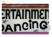 Vintage Dance Sign Carry-all Pouch
