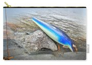 Vintage Fishing Lure - Floyd Roman Nike Blue And White Carry-all Pouch by Mother Nature