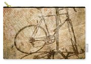 Vintage Looking Bicycle On Brick Pavement Carry-all Pouch