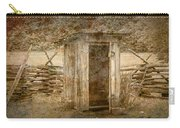 Vintage Looking Old Outhouse In The Great Smokey Mountains Carry-all Pouch