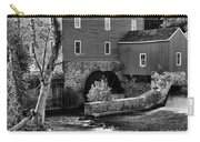 Vintage Mill In Black And White Carry-all Pouch