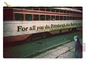 Vintage Pittsburgh Trolly Carry-all Pouch