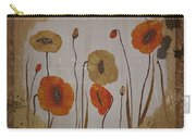 Vintage Red Poppies Painting Carry-all Pouch