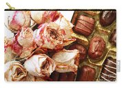 Vintage Roses And Chocolates Painterly Carry-all Pouch
