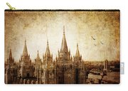 Vintage Slc Temple Carry-all Pouch by La Rae  Roberts
