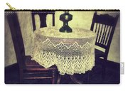 Vintage Table And Chairs By Oil Lamp Light Carry-all Pouch by Jill Battaglia