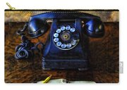 Vintage Telephone And Notepad Carry-all Pouch