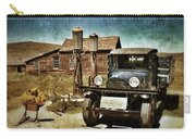 Vintage Vehicle At Vintage Gas Pumps Carry-all Pouch by Jill Battaglia