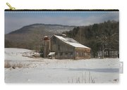 Vintage Weathered Wooden Barn Carry-all Pouch