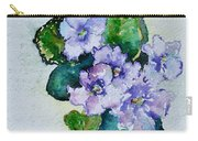 Violet Cluster Carry-all Pouch