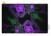 Violet Floral Edgy Abstract Carry-all Pouch