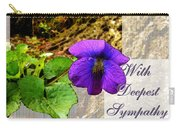 Violet Greeting Card  Sympathy Carry-all Pouch